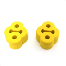 2PCS For Mitsubishi Pajero V31,V32,V33,V43 Plastic fastener for Exhaust pipe muffler Two hole hanging ear ring(China)