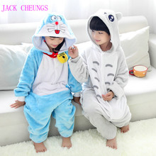 Children Doraemon animal pajamas kids Anime galesaur Costume pyjamas halloween hello kitty Toroto jumpsuit sleepwear(China)