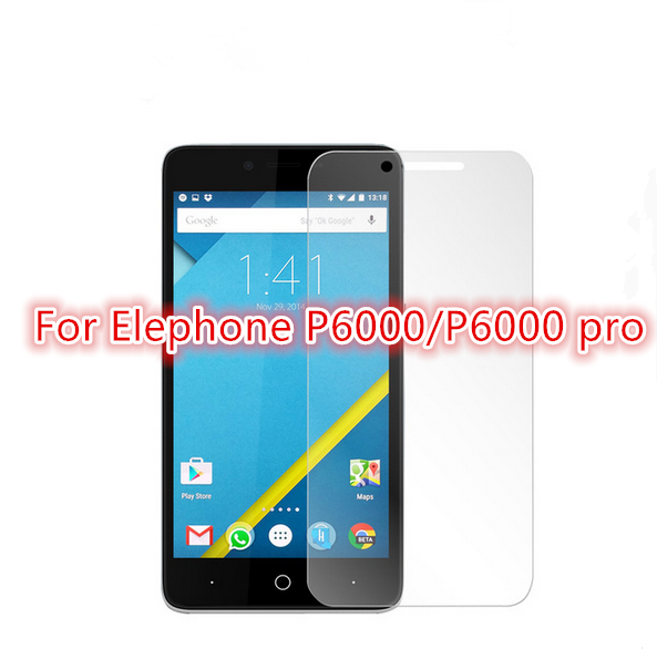 0.3mm 9H tempered glass Elephone P6000/P6000 pro screen protector protective guard film front case cover +clean kits