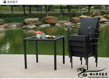 Rattan chair and coffee table casual outdoor furniture balcony garden rattan furniture LT08