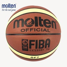 Quality Size7 New Molten GF7 PU Leather Basketball indoor and outdoor Ball Training Equipment and Free With Net Bag+Pins