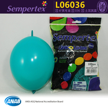 "100pcs/bag 6"" Turquoise green Sempertex link balloons party decor LOL latex balloon kid's toy.(China)"