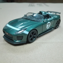 Brand New JOYCITY 1/36 Scale Britain JAGUAR F-TYPE Project 7 Diecast Metal Pull Back Car Model Toy For Gift/Kids/Collection(China)