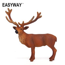 Mr.Froger Elk Model Toy Wild animals toys set Zoo modeling plastic Solid moose wapiti deer Classic Toy Children Animal Models(China)