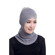 Chic Muslim Hijabs Women Under Scarf Hat Cap Bonnet Ninja Hijab Islamic Neck Cover 12 Color(China)