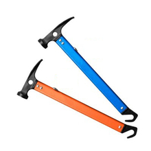 Outdoor multifunctional hammer aluminum handle steel head tents pegs mountaineering hammer nail hammer  Outdoor Tools
