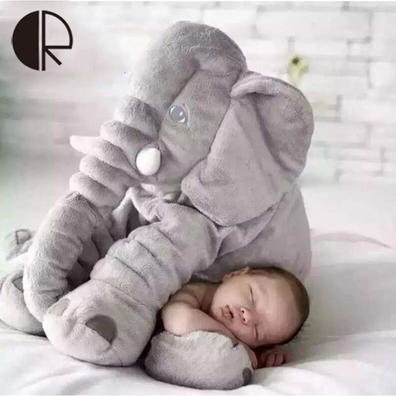 Hot Sale Free Shipping 40cm Colorful Giant Plush Elephant Stuffed Animal Toy Baby Sleeping Cushion Pillow Baby Toys Home Decor(China (Mainland))