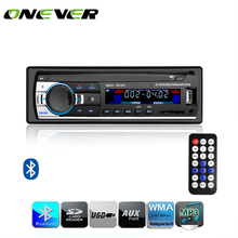 Onever 60WX4 Car Radio DC 12V Bluetooth Car Audio Stereo In-dash 1 Din FM Aux Input Receiver SD USB Car Radio MP3 Player(China)