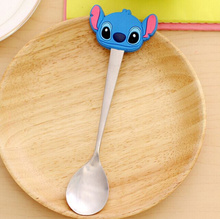 Kawaii Lilo Stitch Baby's  , 15.5CM Stainless Steel Feeding Dining  Salad & Ice Cream  , Table Soup Coffee