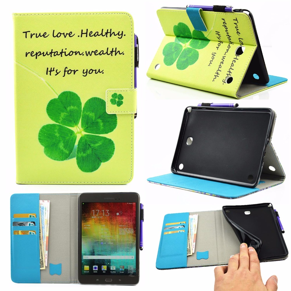 Tablet Painted PU Leather Cases For Samsung Galaxy Tab A 8.0 SM-T350 T351 T350 T355 8 P350 P355 Covers Wallet Holders Bag Shell<br><br>Aliexpress