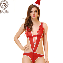 Buy Leechee Y112 women sexy lingerie cosplay christmas uniforms sexy body suit bow teddy sexy erotic underwear porn costumes