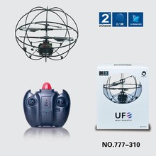 777-310 2-CH Infrared Mini RC UFO Quadcopter with Gyro LED Light RTF Educational Children Toy Flying ball remote control toy(China)