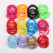 Wholesale 30mm line hair rope elastic color black ponytail holders hair accessories for girls kids rubber bands 2017 20pcs/lot