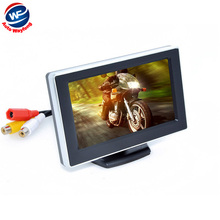 "Car 4.3"" Digital Color TFT 16:9 LCD Car Reverse Monitor with 2 Bracket holder HD Rearview Camera DVD VCR Monitor Free Shipping"