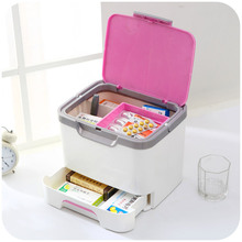 Japanese fashion portable medicine cabinet with drawers medicine storage box for home use Medical kit K3184(China)
