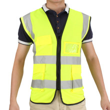 New Arrival Durable Quality Multicolor Hi-Vis Safety Vest Reflective Jacket 5 Pockets Security Waistcoat(China)