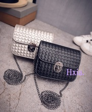 Free shipping, 2017 new chain handbags, tide small square package, fashion woman shoulder bag, han edition messenger bag.(China)