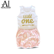 Ai Meng Baby Girl Clothes Infant Clothing Sets Little Girl Suit First 1st Birthday Outfit Toddler Newborn Baby Costume Baby Gift