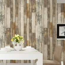 "HaokHome Vintage Wood Wallpaper Rolls Tan/Beige/Brown Wooden Plank Murals Home Kitchen Bathroom Photo Wall Paper 20.8"" x 393.7""(China)"