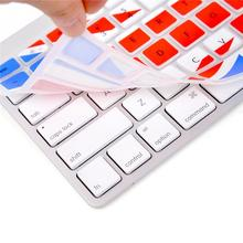 "For Apple Macbook Keyboard Cover 13"" 15\"" Rainbow Laptop Keyboard Stickers US&EU Version Silicone Skin Protector Covers"