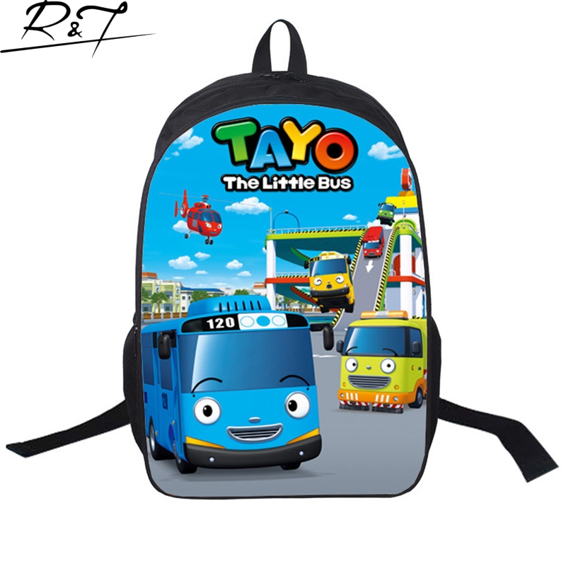 Korea TAYO BUS CAR Children bags Cartoon backpacks School bags for teenagers girl boy Mochilas<br><br>Aliexpress