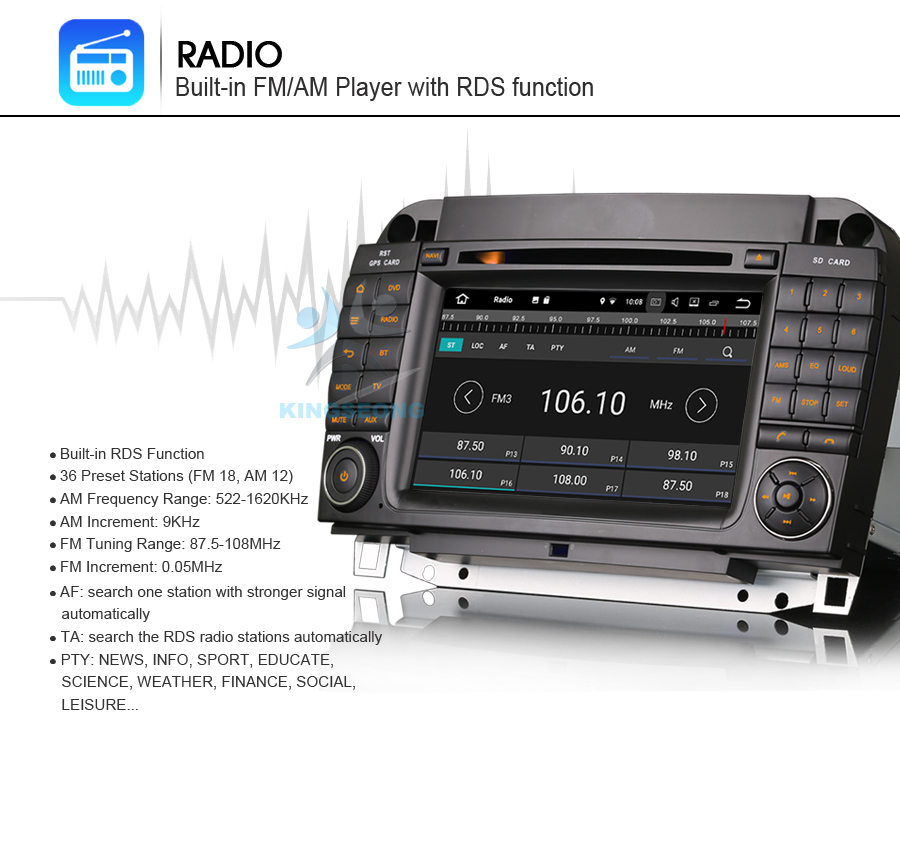 DAB+Android 7.1 Autoradio GPS DVR Bluetooth Navi CD BT Car Multimedia Player for Mercedes S/CL W220 W215 S500 CL600