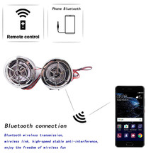 Motorcycle Speaker DC 12V Phone bluetooth Phone wireless connections convenience High fidelity sound quality MP3 music audio(China)