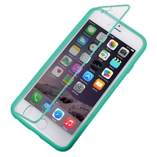 Touch Screen Case for iPhone 6 / 6 Plus / 5C Horizontal Flip Touch Screen Frosted Cellphone TPU Protection Case Cover Shell