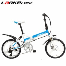 LANKELEISI Ebike 20Inch 48V/240W Lithium Electric Bike 7-Speed 5 Motor Gear Folding Electric Bicycle XMFOX Bicycle Disc Brake(China)