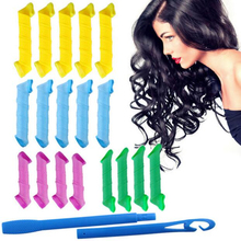 Activity 18pcs/set Creative Magic Hair Curlers Rollers Curling Iron Wand Twist Spiral Circle with 2 Stick Hooks Hair Styling
