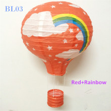 8pcs/lot 12inch/30cm Red Hot Air Balloon Paper Lanterns Rainbow Hanging Wedding Baby Bridal Shower Party Decorations