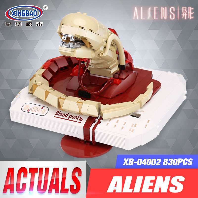 Xingbao 04002 830Pcs Genuine Creative Movie MOC Series The New Alien Set Children Educational Building Blocks Bricks Toys Model<br>