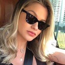 REALSTAR 2018 Moda Pequena Praça Óculos Mulheres Homens Marca Designer  Rebites Óculos de Sol Do Vintage Oculos Shades Feminino S.. 8c47532085