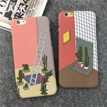 Retro phone case for iphone 5 5S/6 6S 6plus 6Splus mobile phone high quality colorful ladder Style Full protective Plastic capa