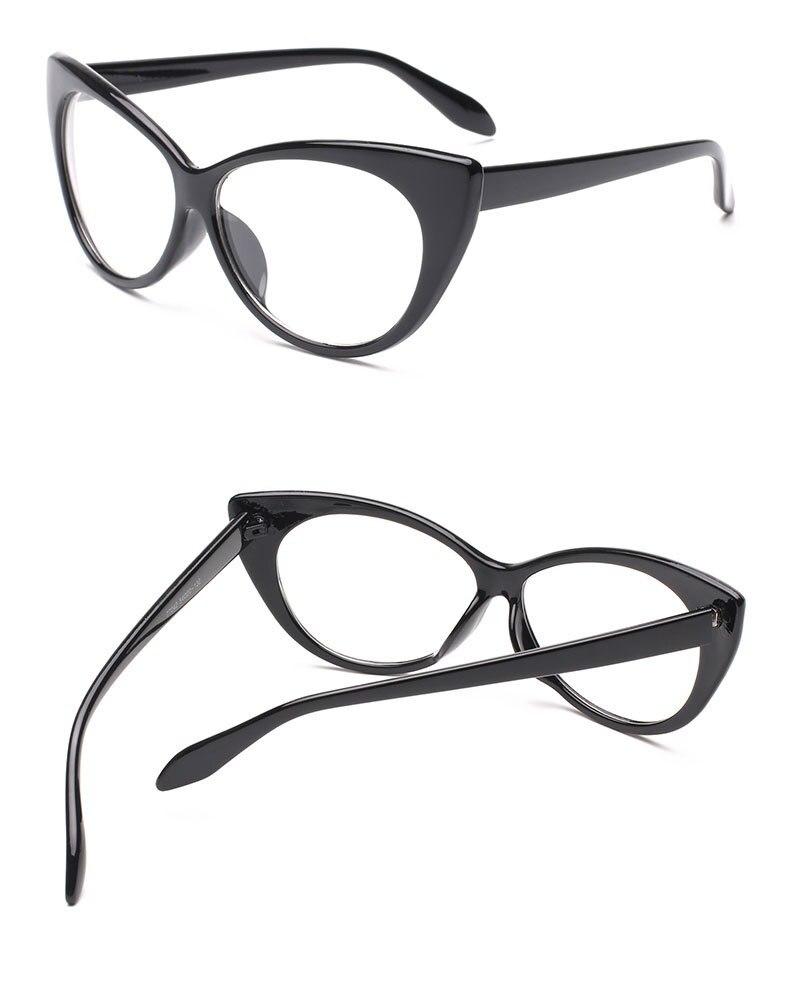 d982d5e9ca 2019 2017 New Sexy Cat Eye Optical Glasses Women Transparent Eyewear ...