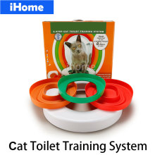 High Quality Cat Toilet Training kit Professional Train Love Clean Cats Use Human Toilet Easy to Learn Litter lavatory box gift(China)