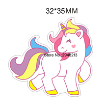 Resin crafts unicorn Cartoon Planar Resin Kawaii Flatback Resins Diy Craft for Crafts And Scrapbooking 50pcs 33*31mm RET1202H(China)