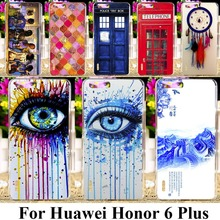 Hard Plastic Rushed Cases For Huawei Honor 6 Plus 4G FDD LTE 5.0 Inch Dual SIM Cases covers Dreamcatcher Telephone Booth Letter