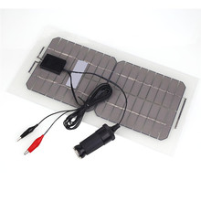 18V 5.5W Portable Flexible Solar Panel Smart Car RV Boat Solar Power Battery Bank Charger with Alligator Clip