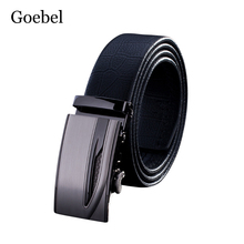 Goebel Casual Belts For Man Automatic Buckle Practical Mens Business Belts Embossed Solid Color Man's Belts High Quality(China)