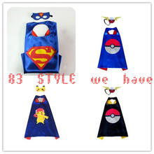 DHL FREE SHIPPING 70cm*70cm 1 Cape +1 Mask Halloween capes - Spiderman superhero capes for kids  Party gift Children's Costume