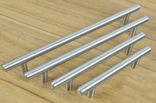 Cabinet Hardware Stainless Steel Bar Pull Handle(C.C.:192mm L:300mm)(China)