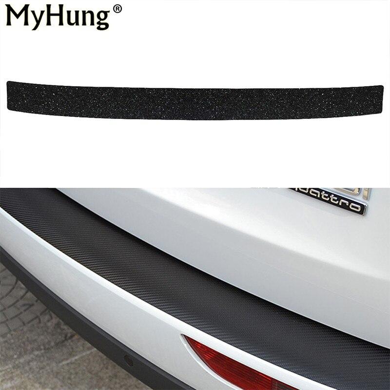 Latest Carbon Fiber Car Rear Guard Bumper 4D Sticker Panel Protector Set