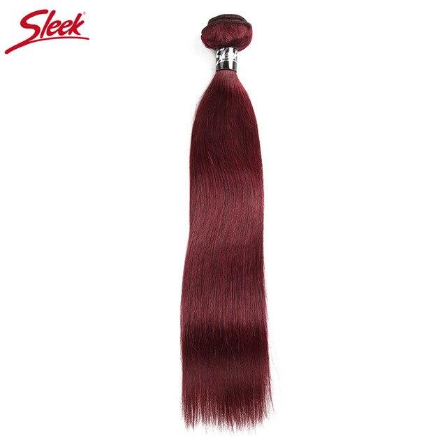 Sleek 99j Brazilian Hair Weave Bundles Straight Human Hair