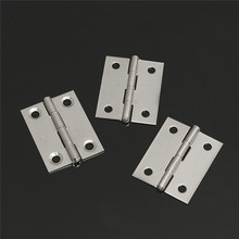 MTGATHER 10pcs Stainless Steel Butt Hinges For Cabinet Drawer Door 1.5 inch Length Widely Used For Door 36 x 28 x 4mm