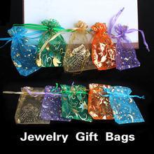 50Pcs/lot Wedding Decoration Organza Jewelry Bags Mixed Color Candy Gift Bags Party Wedding Favors Packaging