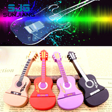 guitar 64gb pen drive usb flash drive 32gb pendrive 16gb music Usb2.0 flash drive 8gb 4gb memory stick U disk free download gift(China)