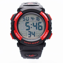 red waterproof wrist digital automatic watches for men digitais watch running mens man digitales clock creative swimming running