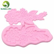 Bakeware 3D Fondant Silicone Mold Flower Silicon Sugar Craft Mould Decorating Silikon Gum Paste Soap Mold For Cake Decoration