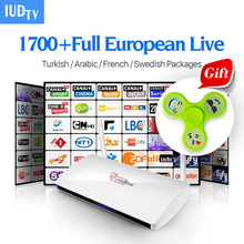 Leadcool Smart Tv Box Android Iptv stb With IUDTV 1700+ Live Europe Channel Italy iptv subscription 1 year French Media Player